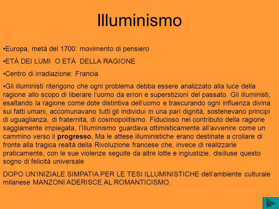 Illuminismo Europa, metà del 1700: movimento di pensiero