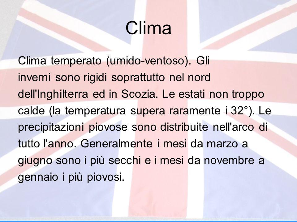Clima Clima temperato (umido-ventoso). Gli