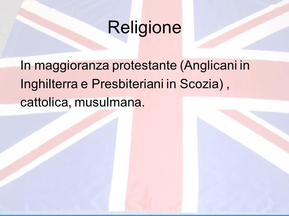 Religione In maggioranza protestante (Anglicani in