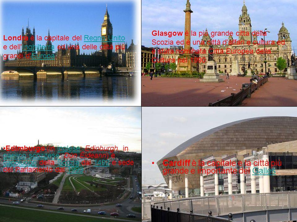 Cardiff è la capitale e la città più grande e importante del Galles.