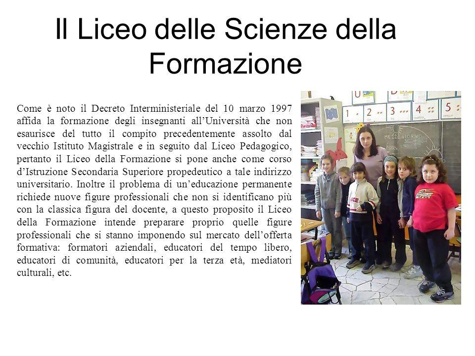 Il Liceo delle Scienze della Formazione