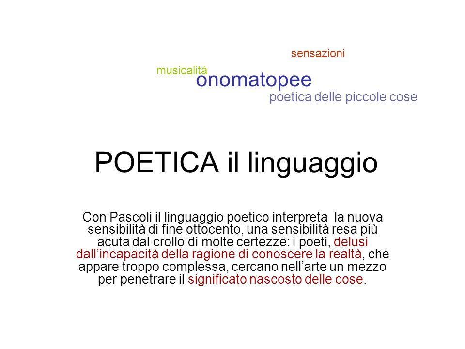 POETICA il linguaggio onomatopee poetica delle piccole cose