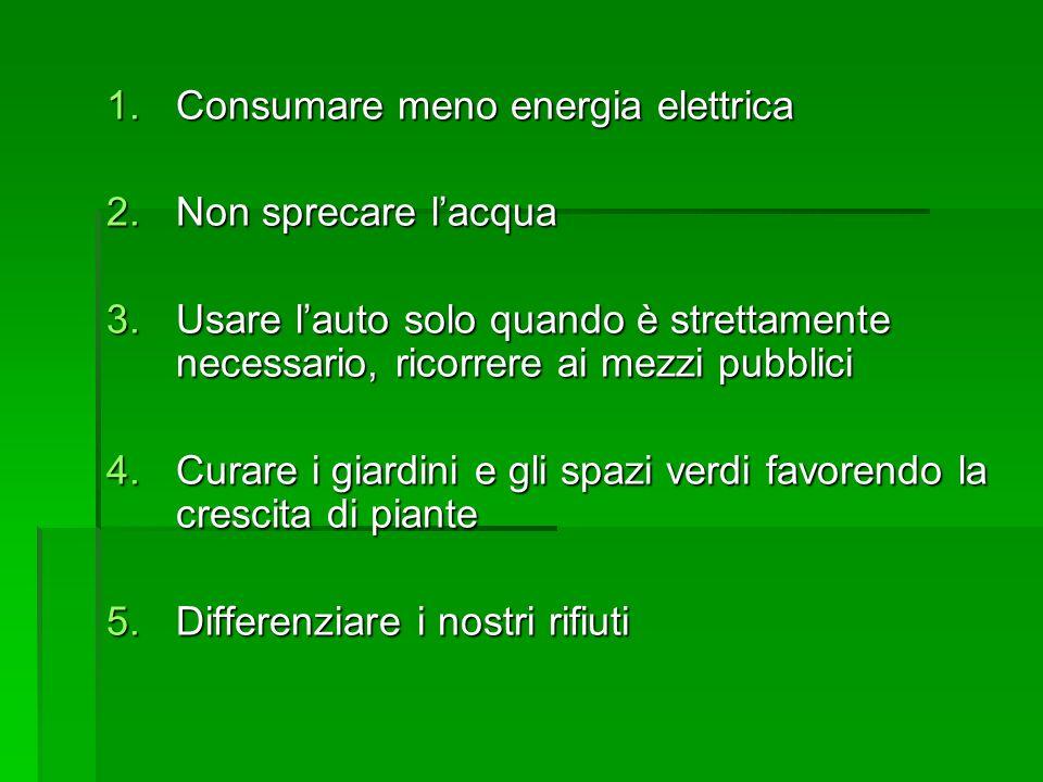 Consumare meno energia elettrica