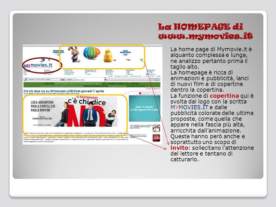 La HOMEPAGE di www.mymovies.it