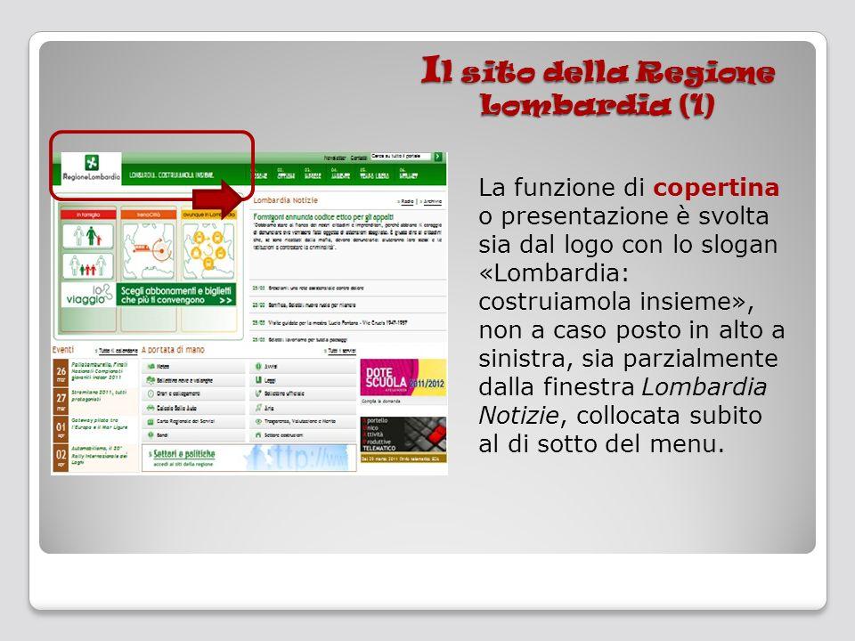 Il sito della Regione Lombardia (1)