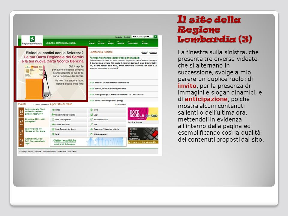 Il sito della Regione Lombardia (3)