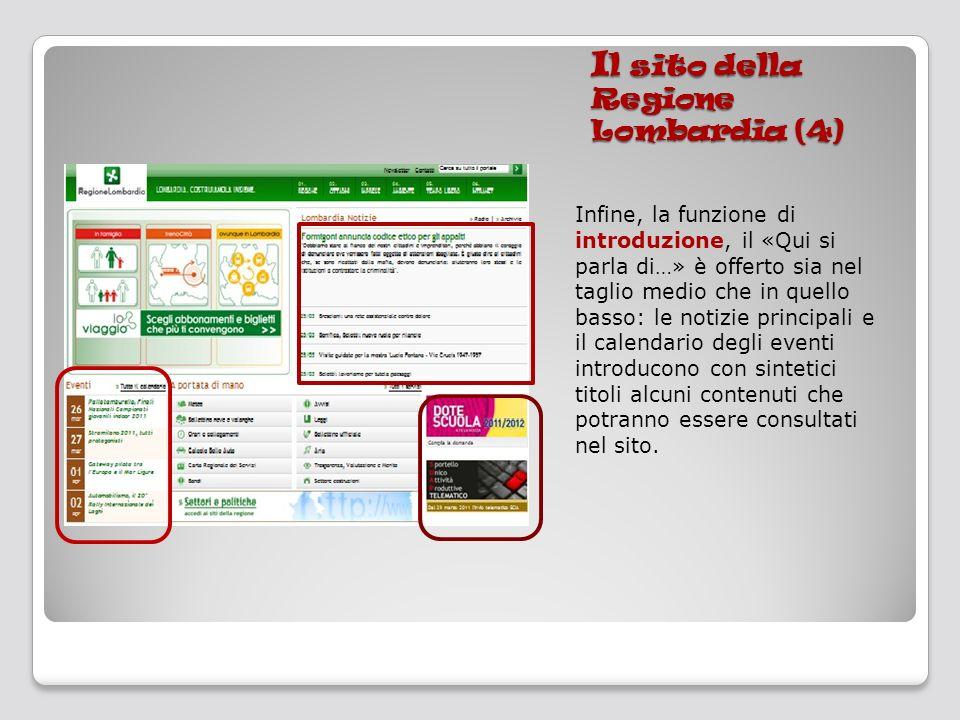 Il sito della Regione Lombardia (4)