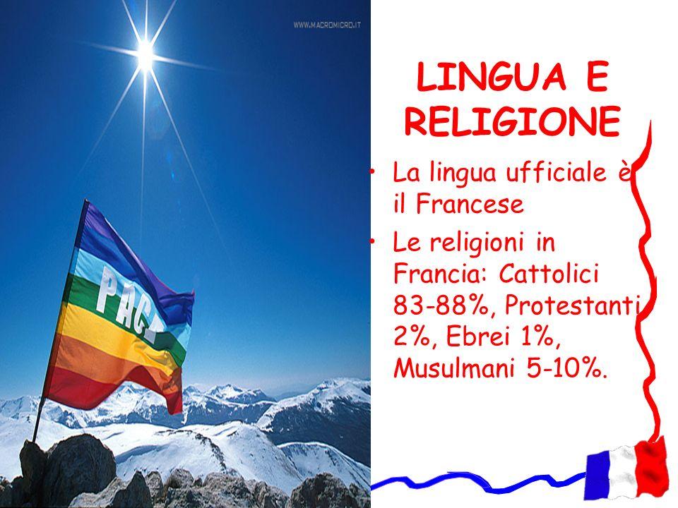 LINGUA E RELIGIONE La lingua ufficiale è il Francese