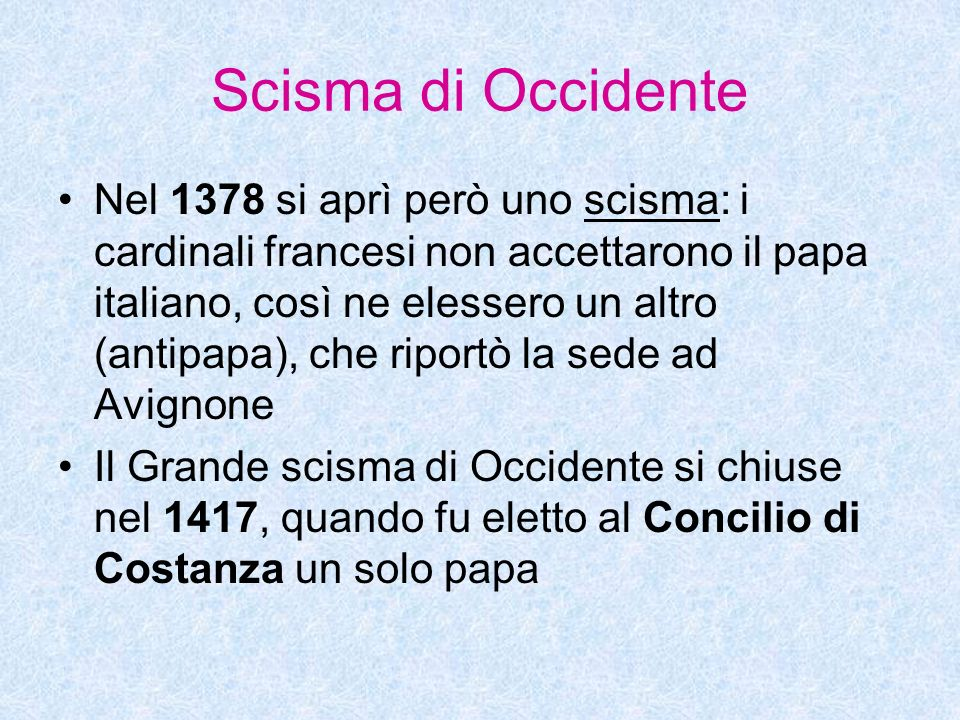 Scisma di Occidente