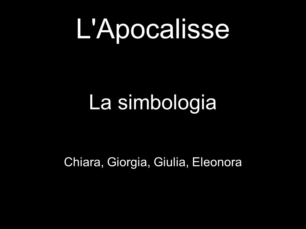 La simbologia Chiara, Giorgia, Giulia, Eleonora