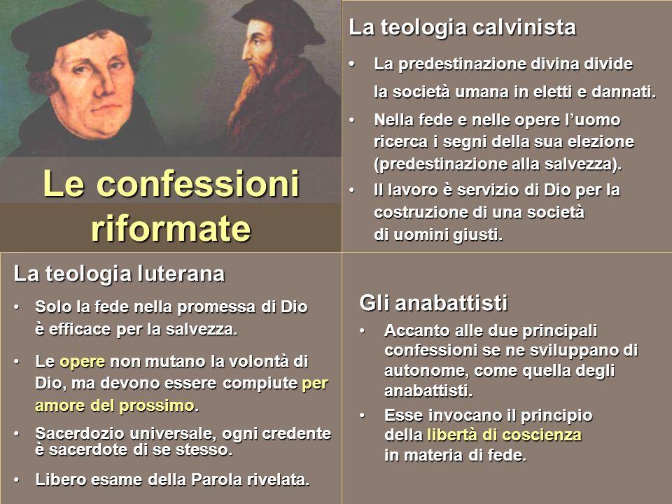 Le confessioni riformate
