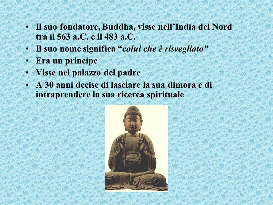 Il suo fondatore, Buddha, visse nell'India del Nord tra il 563 a. C