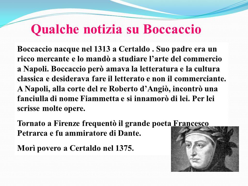 Qualche notizia su Boccaccio