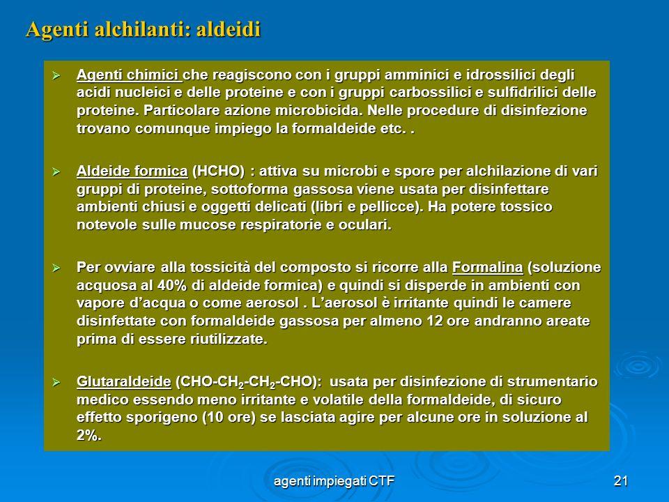 Agenti alchilanti: aldeidi