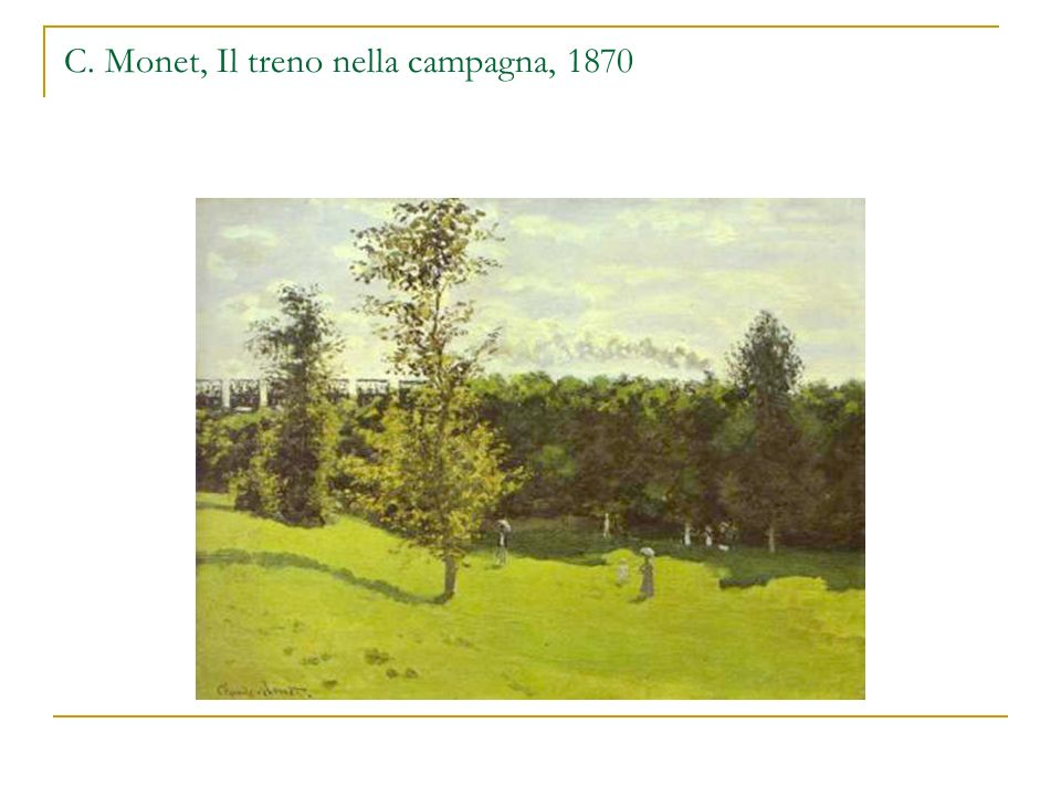 C. Monet, Il treno nella campagna, 1870