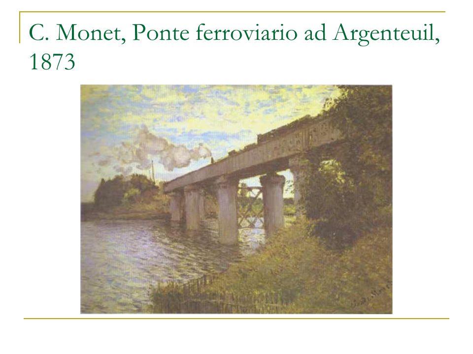 C. Monet, Ponte ferroviario ad Argenteuil, 1873