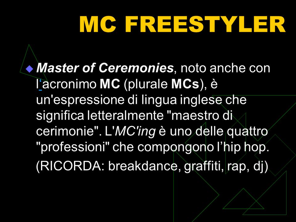 MC FREESTYLER