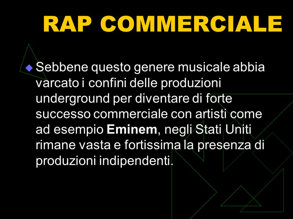 RAP COMMERCIALE