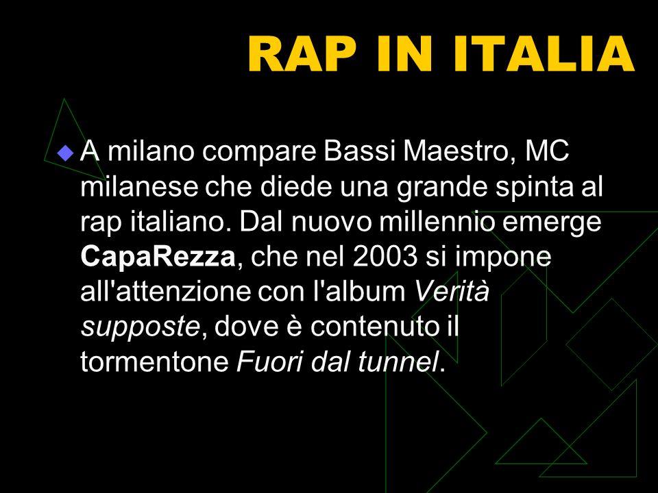 RAP IN ITALIA