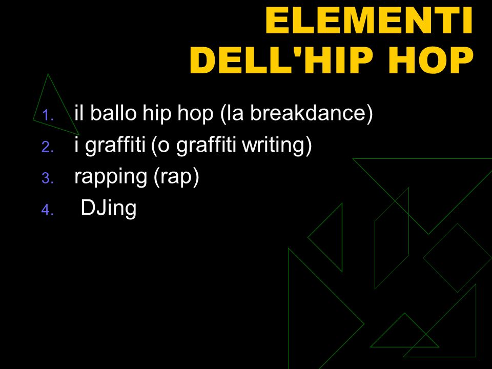 ELEMENTI DELL HIP HOP il ballo hip hop (la breakdance)