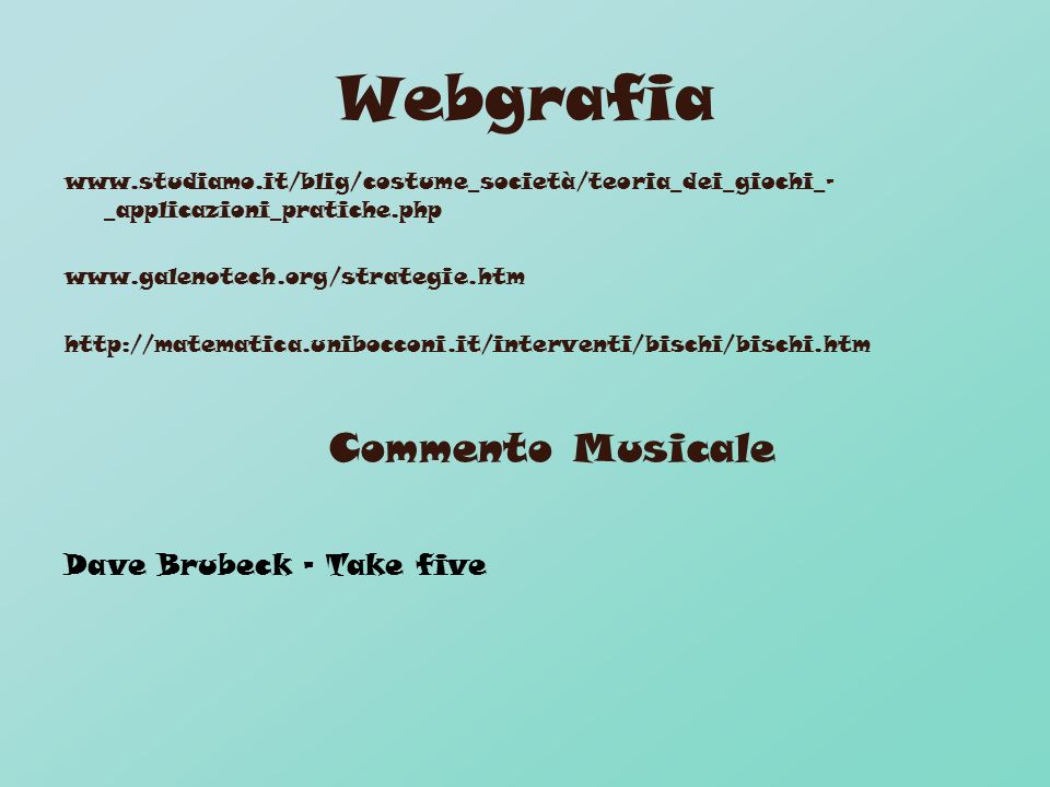 Webgrafia Commento Musicale Dave Brubeck - Take five