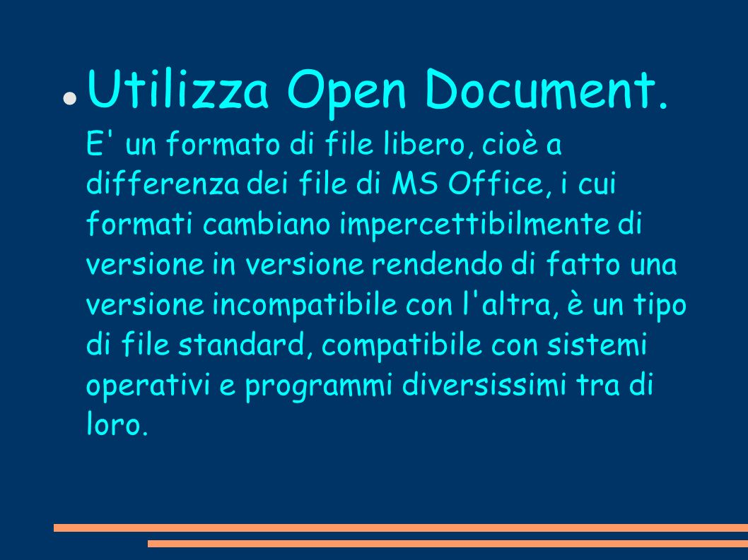 Utilizza Open Document
