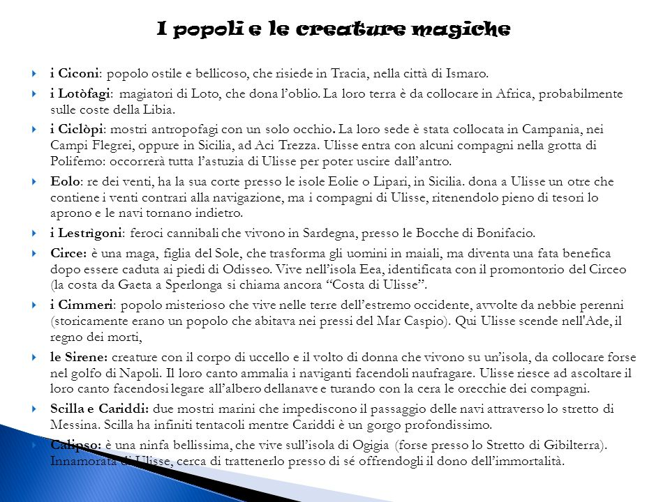 I popoli e le creature magiche