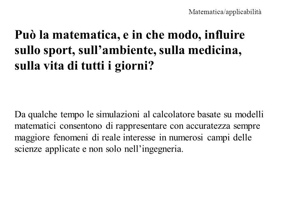 Matematica/applicabilità