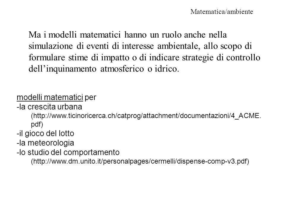 Matematica/ambiente