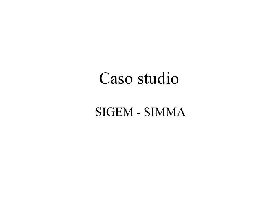 Caso studio SIGEM - SIMMA