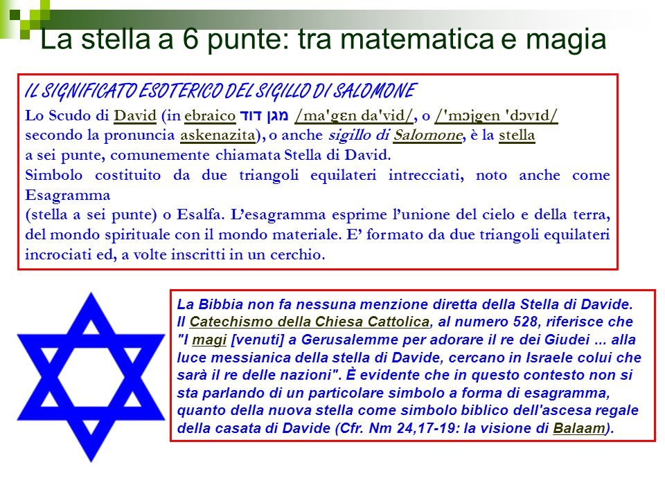 La stella a 6 punte: tra matematica e magia