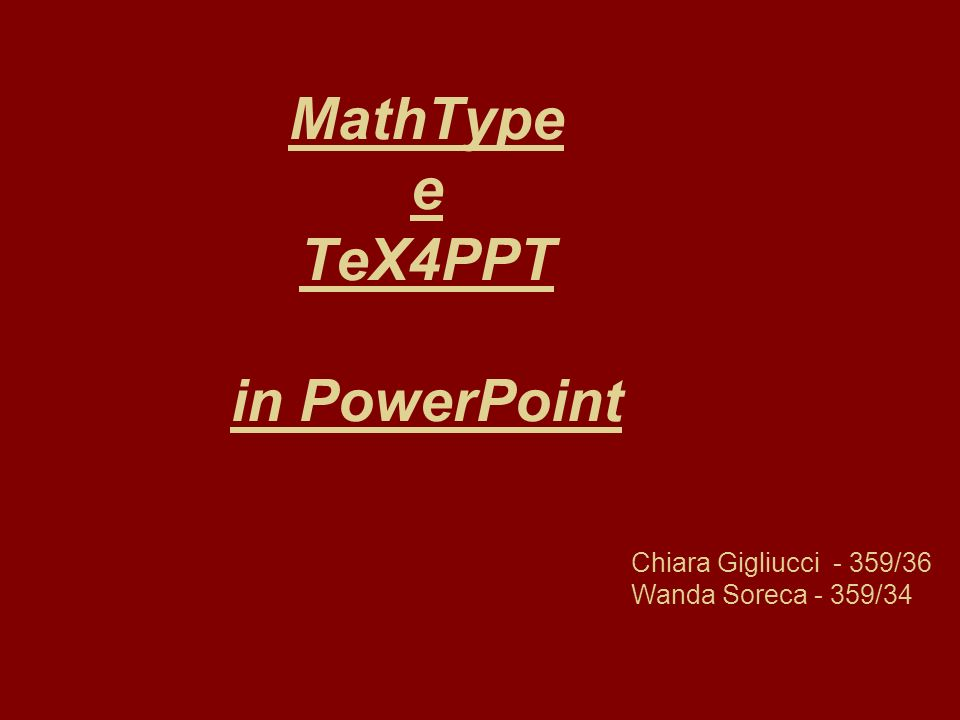 MathType e TeX4PPT in PowerPoint