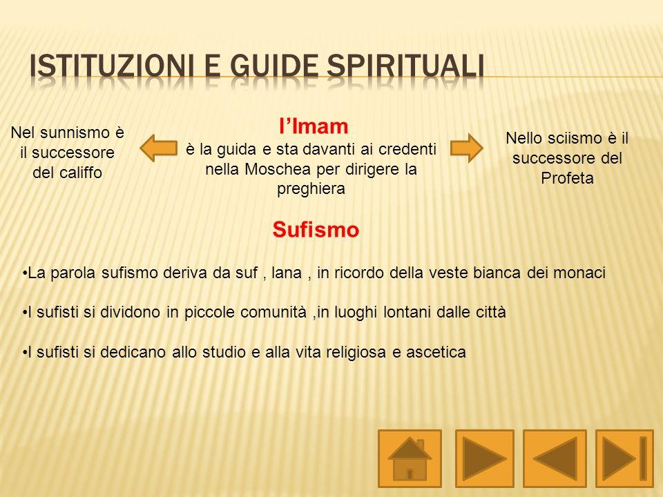 Istituzioni e guide spirituali