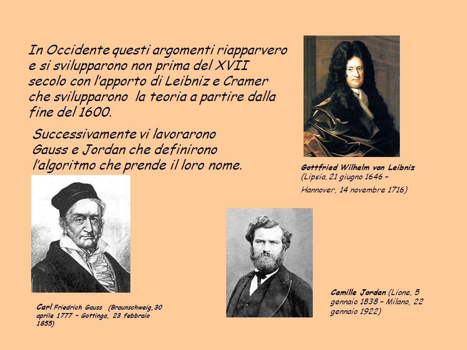 In Occidente questi argomenti riapparvero e si svilupparono non prima del XVII secolo con l'apporto di Leibniz e Cramer che svilupparono la teoria a partire dalla fine del 1600.