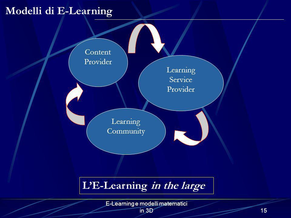 L'E-Learning in the large
