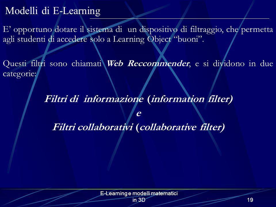 Filtri di informazione (information filter) e