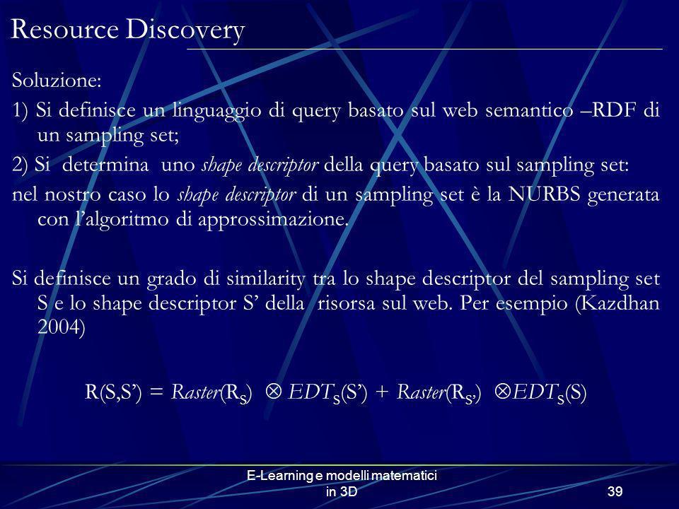 Resource Discovery Soluzione: