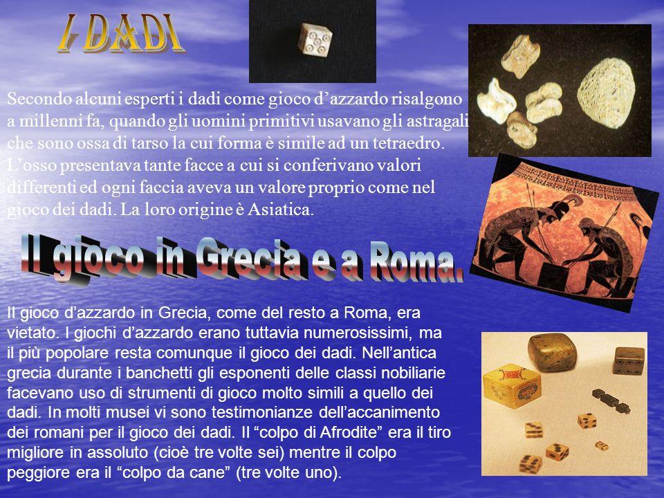 Il gioco in Grecia e a Roma.