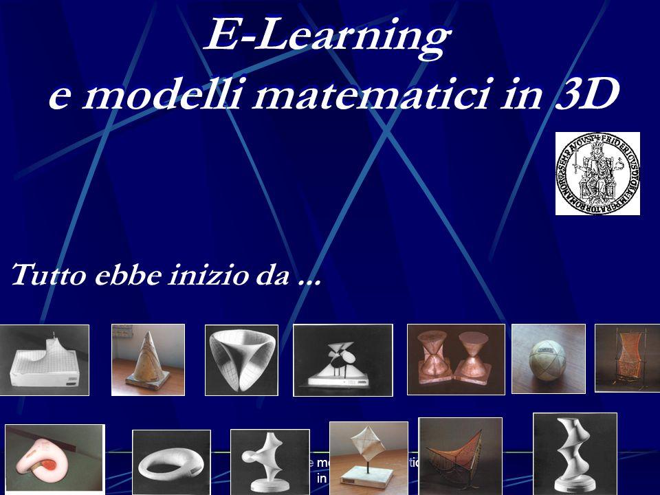e modelli matematici in 3D