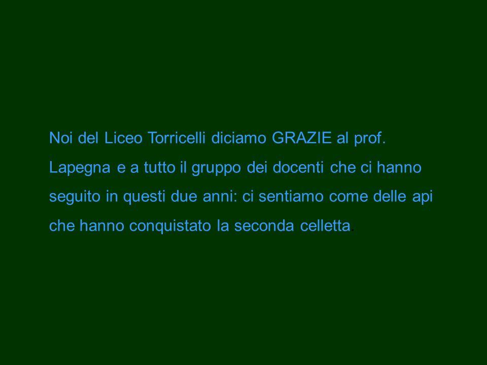 Noi del Liceo Torricelli diciamo GRAZIE al prof.