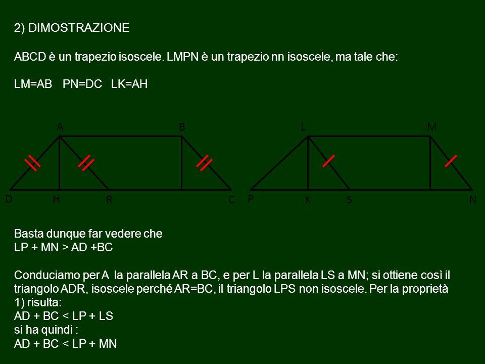 2) DIMOSTRAZIONE ABCD è un trapezio isoscele