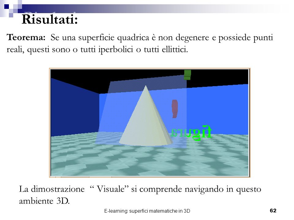 E-learning: superfici matematiche in 3D