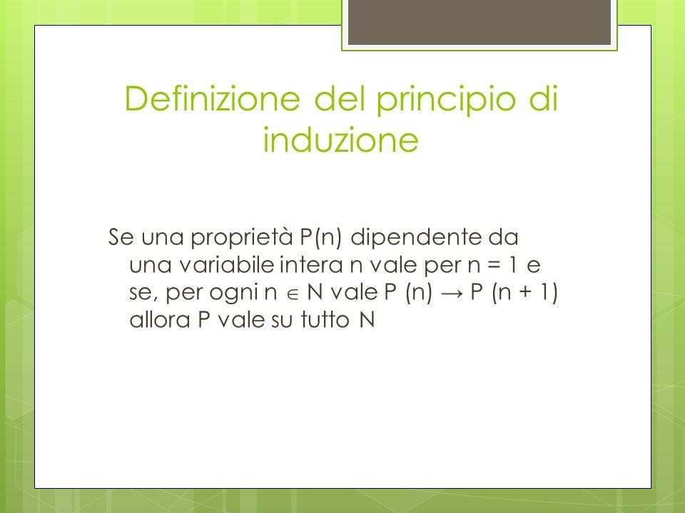 Definizione del principio di induzione