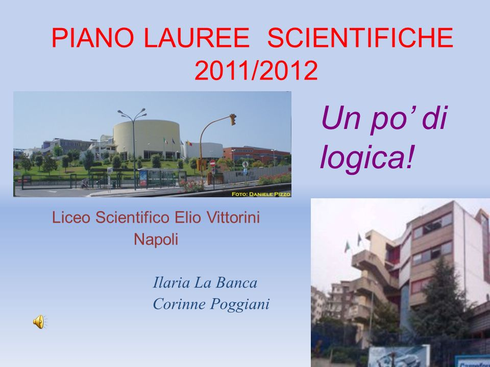 PIANO LAUREE SCIENTIFICHE 2011/2012