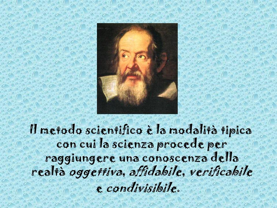 Il metodo scientifico è la modalità tipica con cui la scienza procede per raggiungere una conoscenza della realtà oggettiva, affidabile, verificabile e condivisibile.
