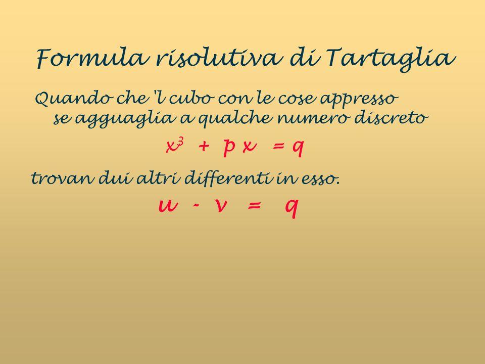 Formula risolutiva di Tartaglia