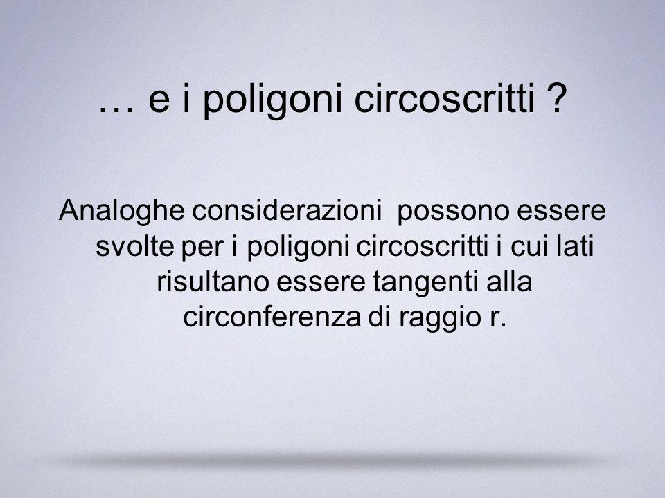 … e i poligoni circoscritti