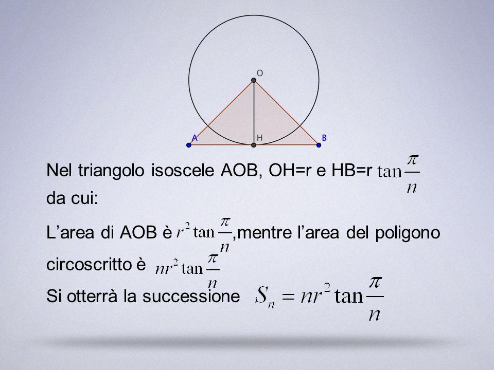 Nel triangolo isoscele AOB, OH=r e HB=r