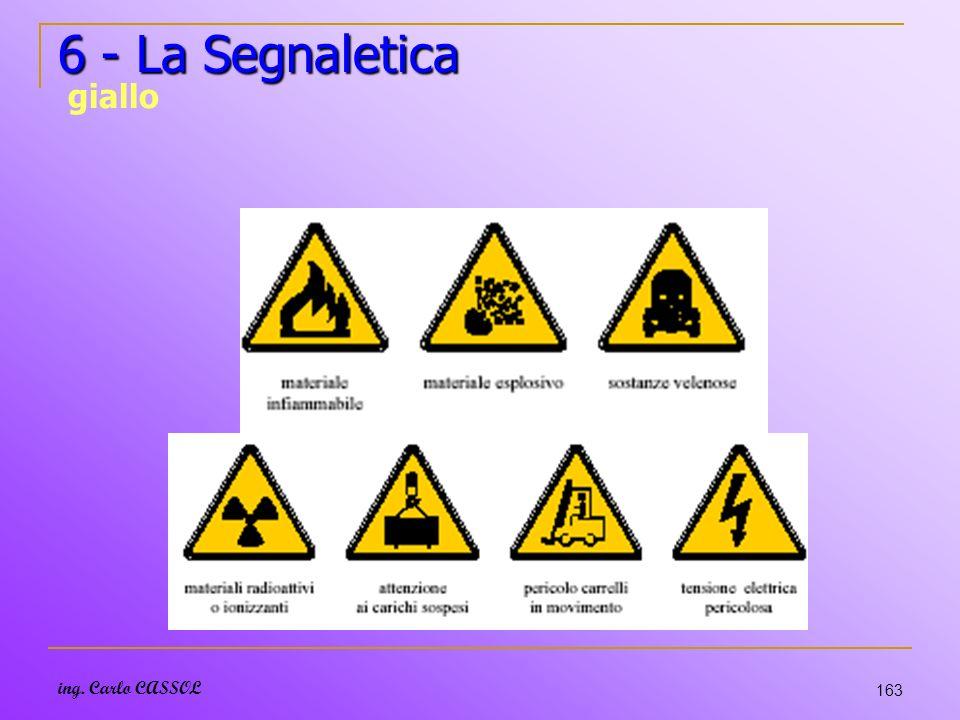 6 - La Segnaletica giallo