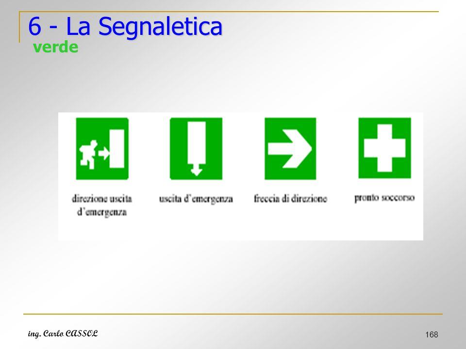 6 - La Segnaletica verde ing. Carlo CASSOL
